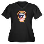 Columbus Fire Department Women's Plus Size V-Neck