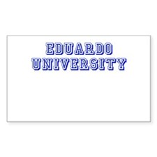 Eduardo University Rectangle Decal