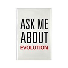 Ask Me About Evolution Rectangle Magnet (10 pack)