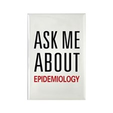 Ask Me About Epidemiology Rectangle Magnet (100 pa