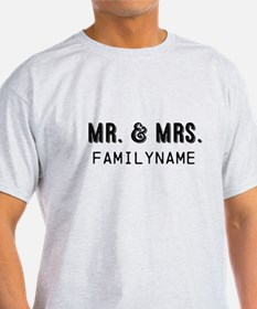 Mr. & Mrs. Personalized T-Shirt