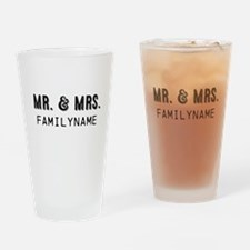 Mr. & Mrs. Personalized Drinking Glass