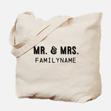 Mr. & Mrs. Personalized Tote Bag
