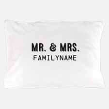 Mr. & Mrs. Personalized Pillow Case
