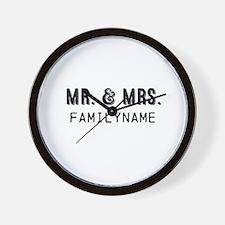 Mr. & Mrs. Personalized Wall Clock
