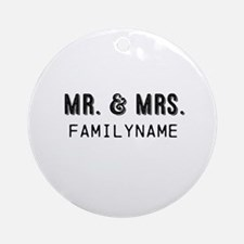 Mr. & Mrs. Personalized Ornament (Round)