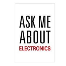 Ask Me About Electronics Postcards (Package of 8)