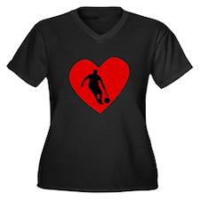 Basketball Dribble Heart Plus Size T-Shirt
