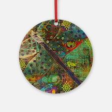 Confetti Dragonfly Colla Round Ornament