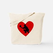 Baseball Catcher Heart Tote Bag