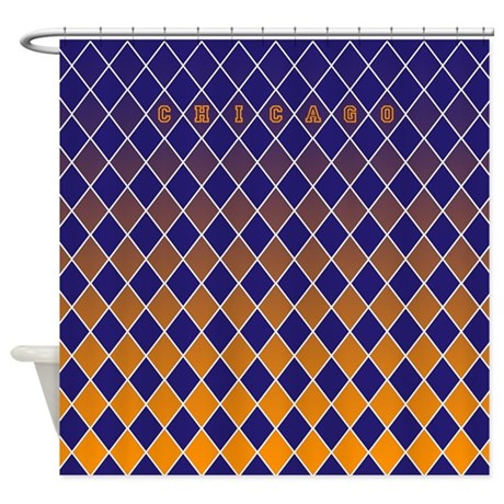 Chicago Blue And Orange Shower Curtain By CurtainsForShowers