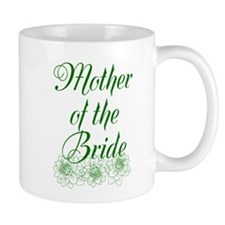 Green Mother of the Bride Mugs