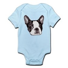 "Organic ""Boston Terrier"" Baby Bodysuit B"