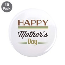 """Happy Mother's Day 3.5"""" Button (10 pack)"""