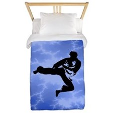 Karate Blue Twin Duvet