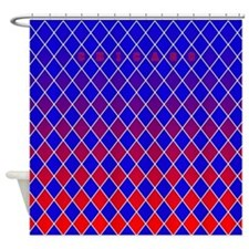 Chicago Red and Blue Shower Curtain