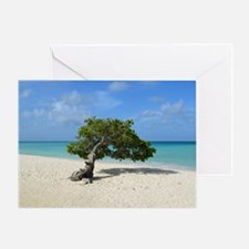 Aruba Divi Divi Tree Greeting Card