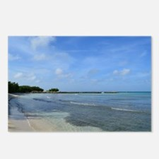 Deserted Tropical Beach i Postcards (Package of 8)