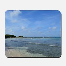 Deserted Tropical Beach in Aruba Mousepad
