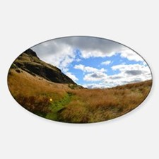 Arthur's Seat in Edinburgh Sticker (Oval)