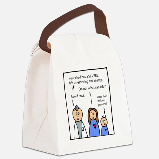 Avoid Nuts. Canvas Lunch Bag