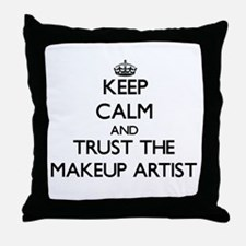 Keep Calm and Trust the Makeup Artist Throw Pillow