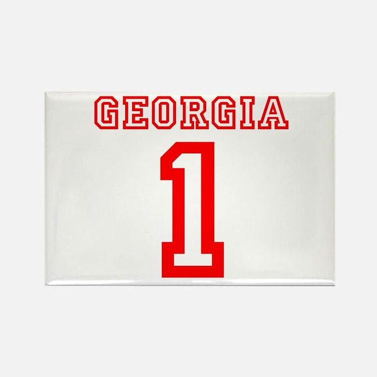 GEORGIA #1 Rectangle Magnet