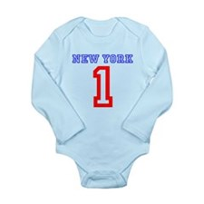 NEW YORK #1 Long Sleeve Infant Bodysuit