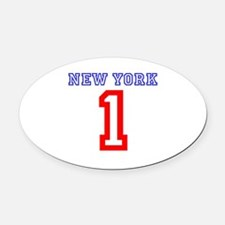 NEW YORK #1 Oval Car Magnet
