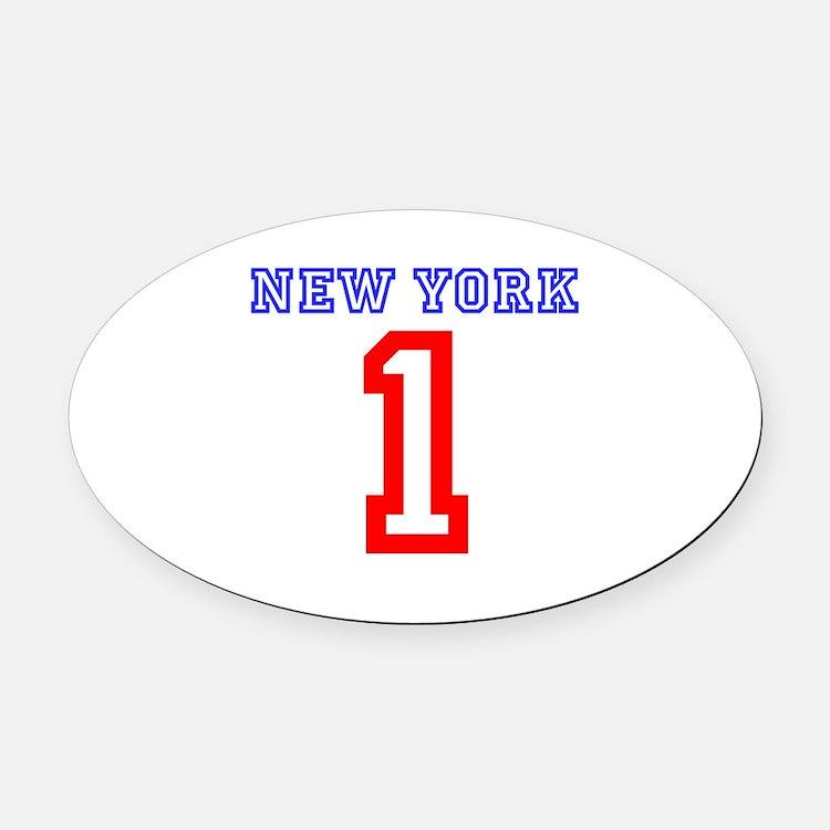 NEW YORK #1 Oval Car Magnet