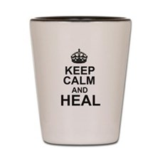 KEEP CALM and HEAL Shot Glass