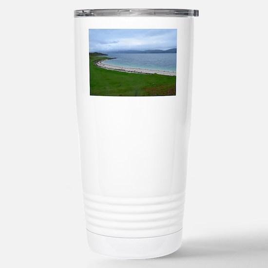 Pretty Coral Beach Stainless Steel Travel Mug