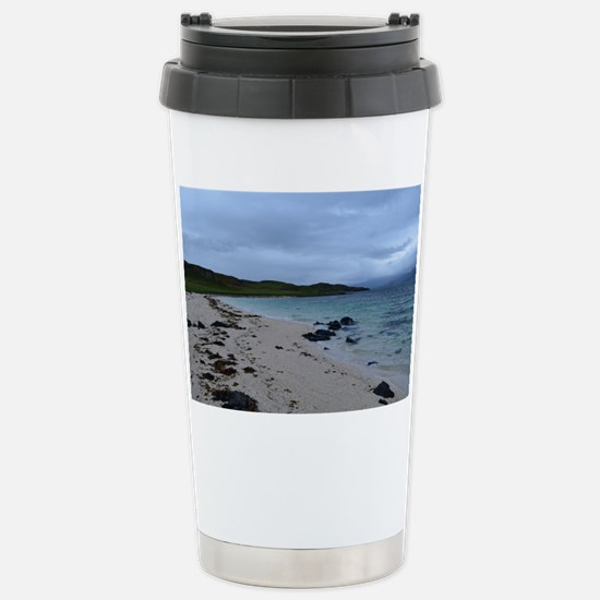 Coral Beach on the Isle Stainless Steel Travel Mug