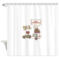 NEXTADVENTURE.png Shower Curtain
