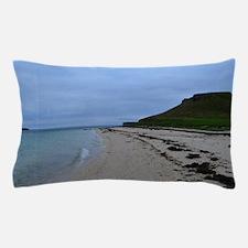 Pretty White Sand Coral Beaches in Sco Pillow Case