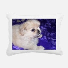 Dogs are just furry chil Rectangular Canvas Pillow