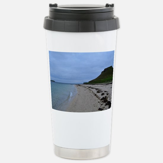 Pretty White Sand Coral Stainless Steel Travel Mug