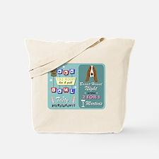 Basset Hound Bowling Tiki Night Tote Bag