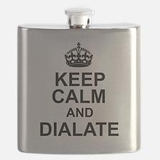 KEEP CALM and DIALATE Flask