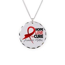 Stroke Disease Hope Necklace Circle Charm