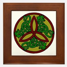 Tri-Color Dragon Trinity Knot Framed Tile