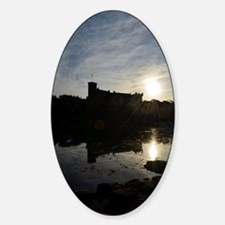 Silhouetted Dunvegan Castle Sticker (Oval)