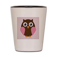 The Owl Art. Shot Glass
