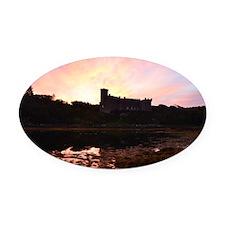 Sunrise at Dunvegan Castle Oval Car Magnet