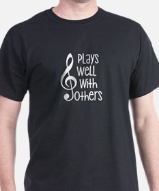 Plays Well with Other - G clef T-Shirt