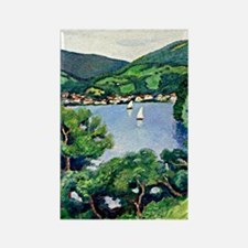 August Macke - View of Tegernsee Rectangle Magnet