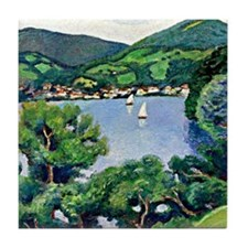 August Macke - View of Tegernsee Tile Coaster