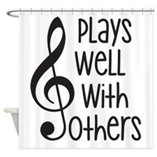 Plays Well with Other - G clef Shower Curtain