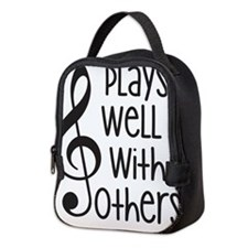 Plays Well with Other - G clef Neoprene Lunch Bag