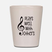 Plays Well with Other - G clef Shot Glass